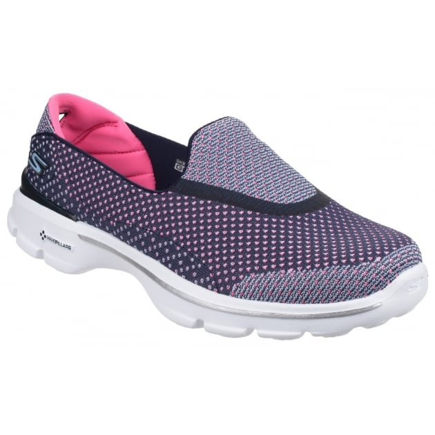 Skechers Go Walk 3 Go Knit Navy/Pink