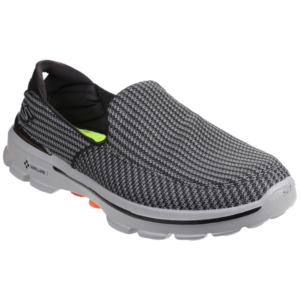 Skechers Go Walk 3 Men S Grey Orange Sports Free Returns