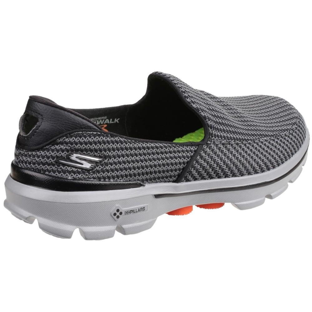 Skechers Go Walk 3 Men S Grey Orange Sports Free Returns