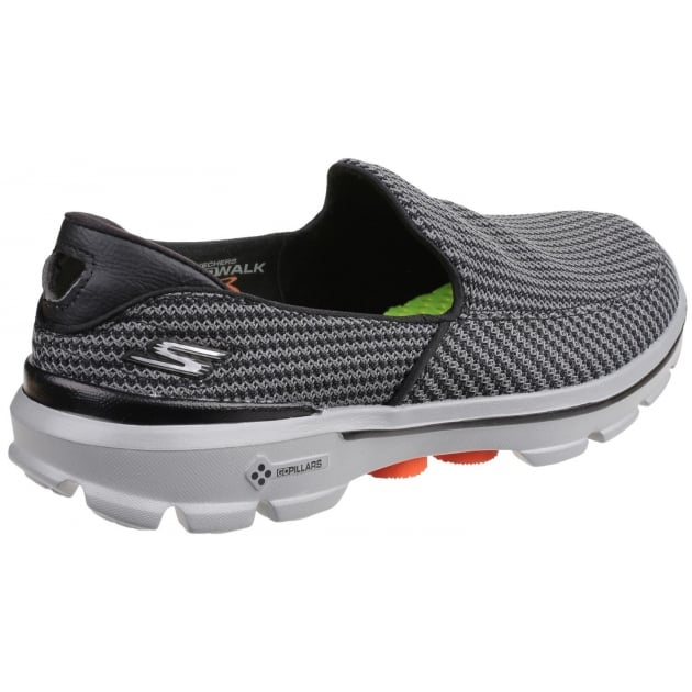 Skechers Go Walk 3 Grey/Orange Shoe