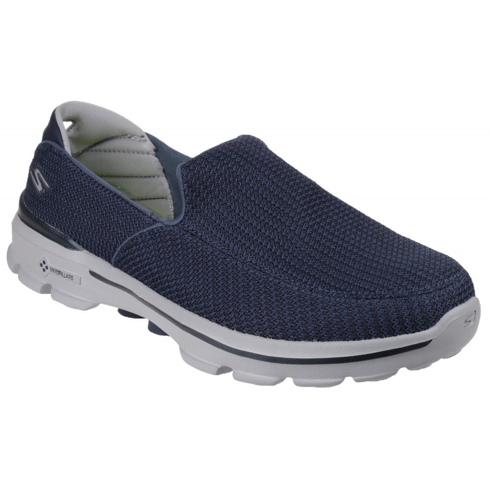 skechers go walk 3 men 39 s navy grey sports free returns. Black Bedroom Furniture Sets. Home Design Ideas