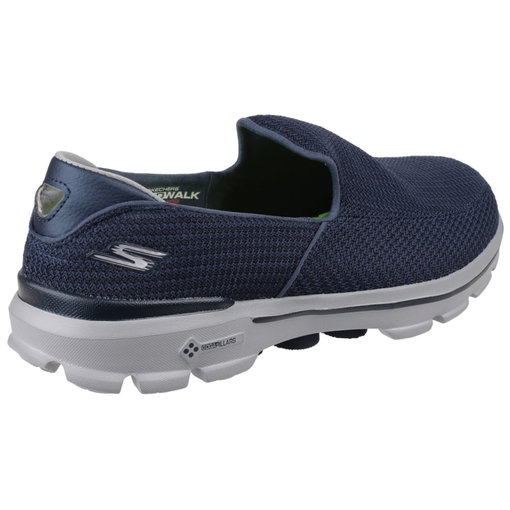 Skechers Go Walk 3 Men S Navy Grey Sports Free Returns