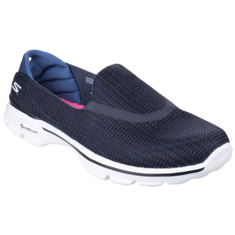 skechers go walk 3 women 39 s navy white sports free. Black Bedroom Furniture Sets. Home Design Ideas