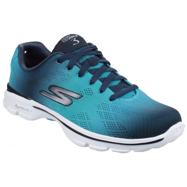Skechers Go Walk 3 - Pulse Navy/Aqua