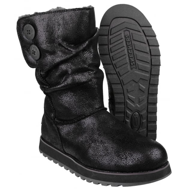 Skechers Keepsakes Esque Black Boots SK48367
