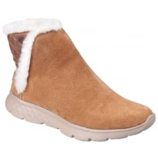 Skechers On The Go 400 - Cozies Pull On Ankle Boots Chestnut
