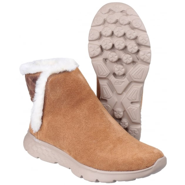 Skechers On The Go 400 - Cozies Pull On Ankle Boots Chestnut SK14356