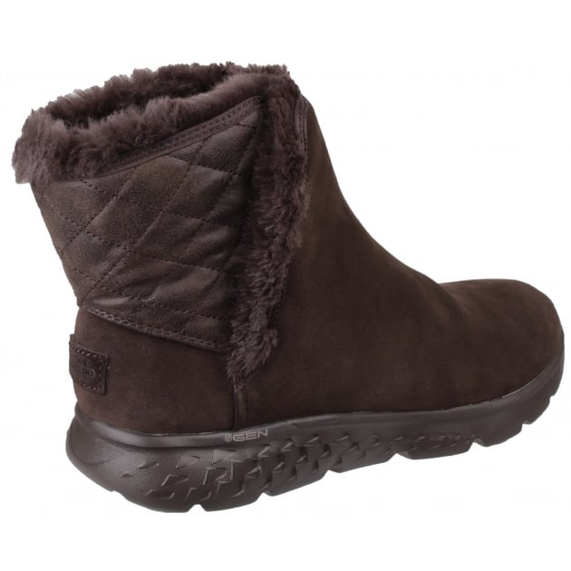 Skechers On The Go 400 - Cozies Pull On Ankle Boots Chocolate SK14356
