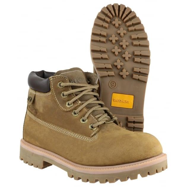 Skechers Sargents Verdict Dark Sand/Charcoal Boots