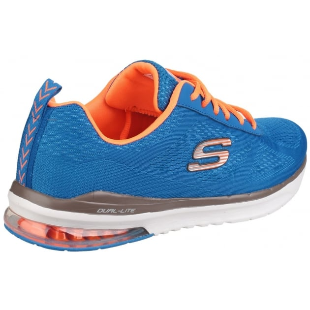 Skechers Skech-Air Infinity Memory Foam Lace Up Blue/Orange Trainer SK51484