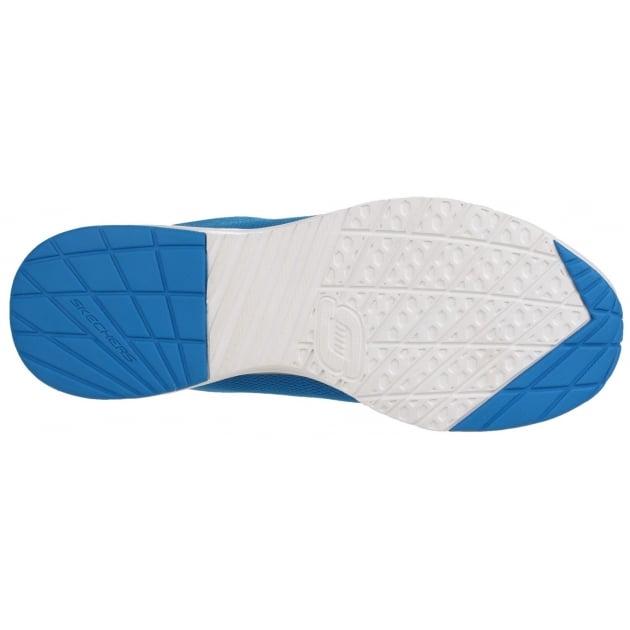 Skechers Skech-Air Infinity Memory Foam Lace Up Blue/Orange Trainer SK51484
