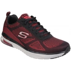 Skechers Skech-Air Infinity Memory Foam Lace Up Red/Black Trainer SK51484