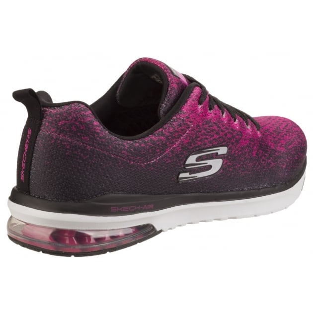 Skech-Air Infinity - Modern Chic Black/Hot Pink