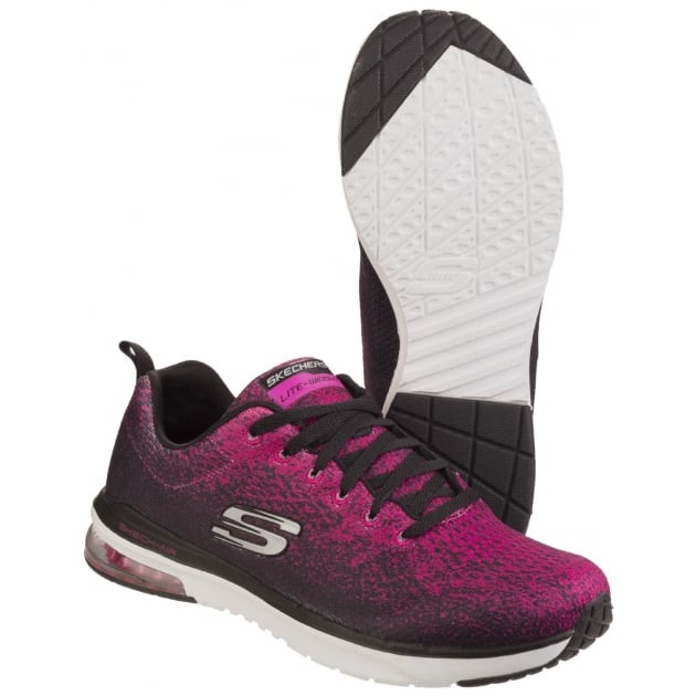 Skechers Skech-Air Infinity - Modern Chic Black/Hot Pink