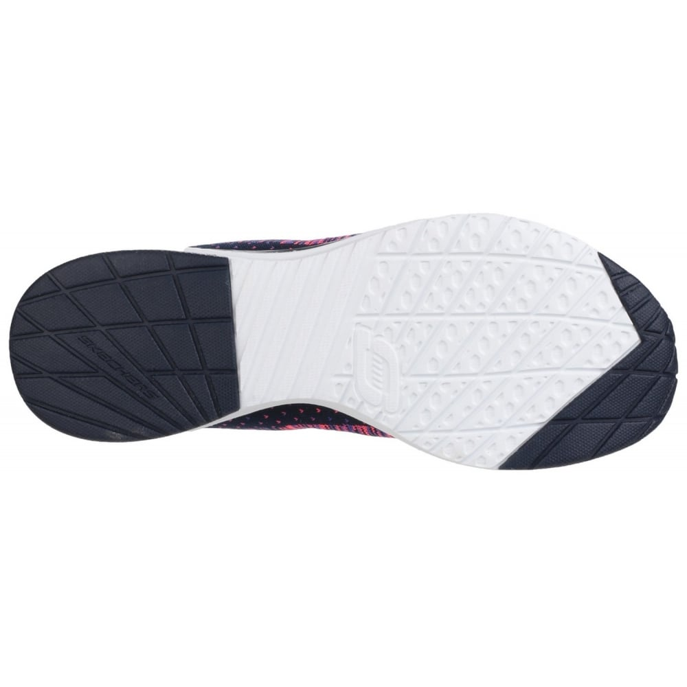ea1c58e9a0d ... Skech-Air Infinity - Wildcard Lace Up Sports Shoe Navy/Pink Shoes ...