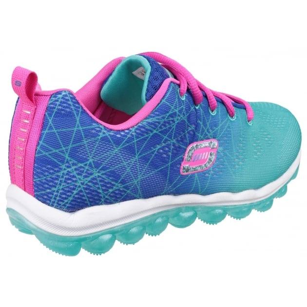 Skechers Skech Air Laser Lite Lace Up Girls Blue/Aqua SK80344