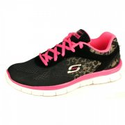 Skechers Skech Appeal Serengeti Black/Neon Pink Girls