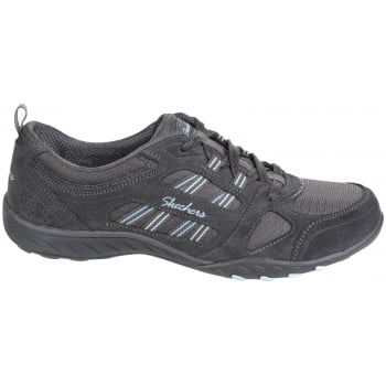 Skechers Active Breathe Easy - Good Luck Charcoal Trainers
