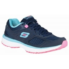 Skechers Agility Perfect Fit Trainer Navy/Light Blue