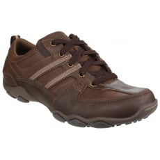 Skechers Diameter Selent Lace Up Shoe - Dark Brown