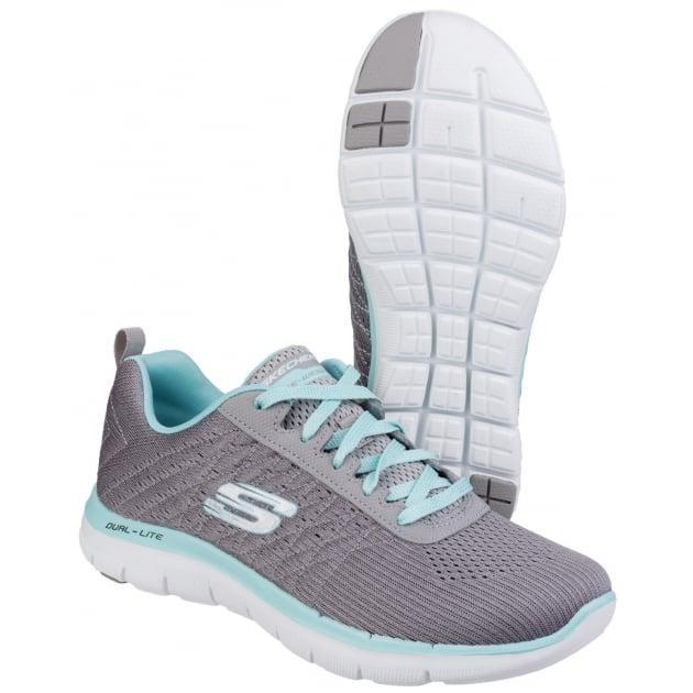 Skechers Flex Appeal 2.0 Break Free - Grey/Light blue