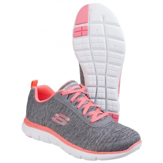 Skechers Flex Appeal 2.0 - Grey/Coral