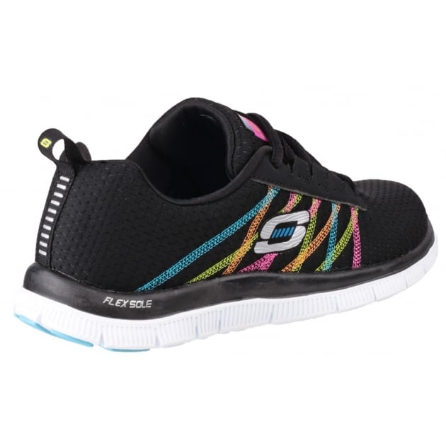 Skechers Flex Appeal Something Fun Black/Multi Trainers
