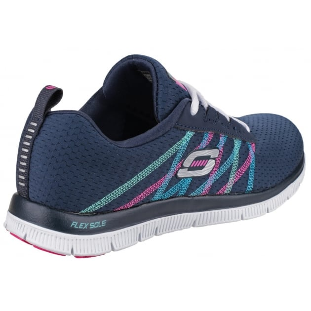 Skechers Flex Appeal Something Fun Navy/Multi Trainers