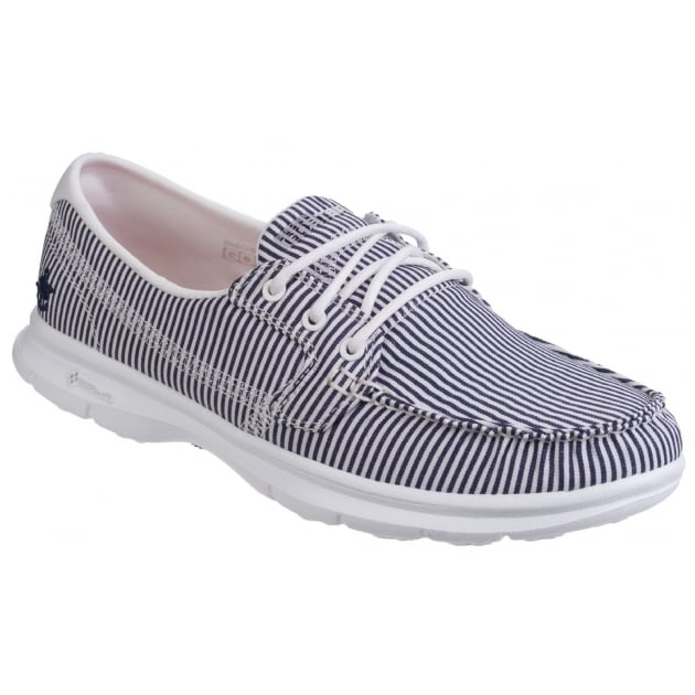 Skechers Go Step Sandy - Navy/White Shoes