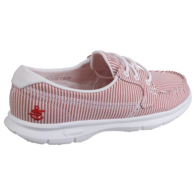 Skechers Go Step Sandy - Red/White Shoes