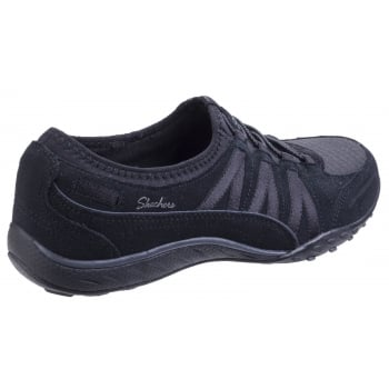 Skechers Relaxed Fit: Breathe Easy - Moneybags Black Trainers