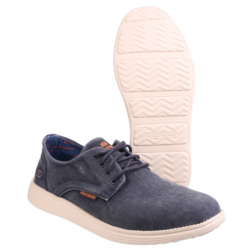 pista Chelín Ambiguo  Skechers Relaxed Fit: Status-Borges - Navy