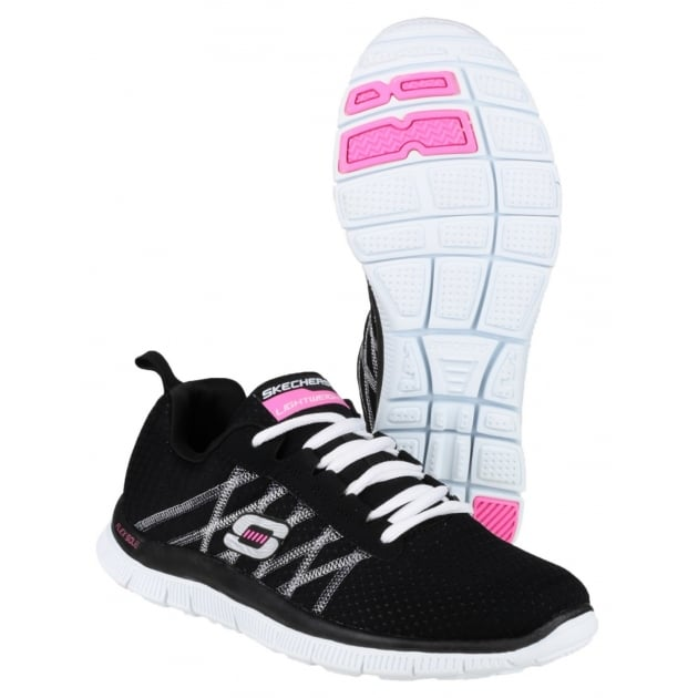 Skechers Sports Flex Appeal Something Fun Black/White