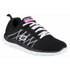 Skechers Sports Flex Appeal Something Fun Black/White Shoes
