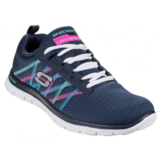 Skechers Sports Flex Appeal Something Fun Navy/Multi Shoes