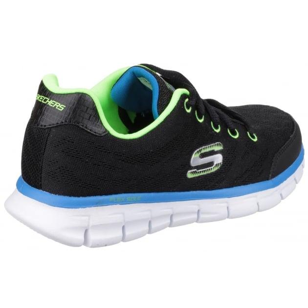 Skechers Synergy Fine Tune Black/Lime Boys SK95513