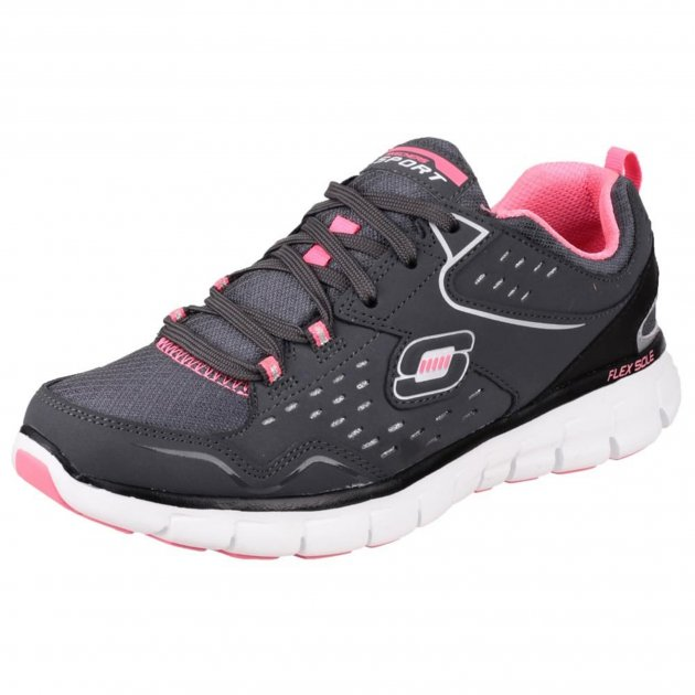 Skechers Synergy Front Row Sk21771 Charcoal/Black Shoes