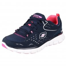 Skechers Synergy Front Row Sk21771 Navy/Purple Shoes