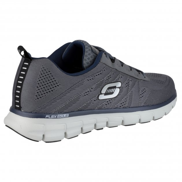 Skechers Synergy Power Switch Sk51188 Charcoal/Navy Shoes
