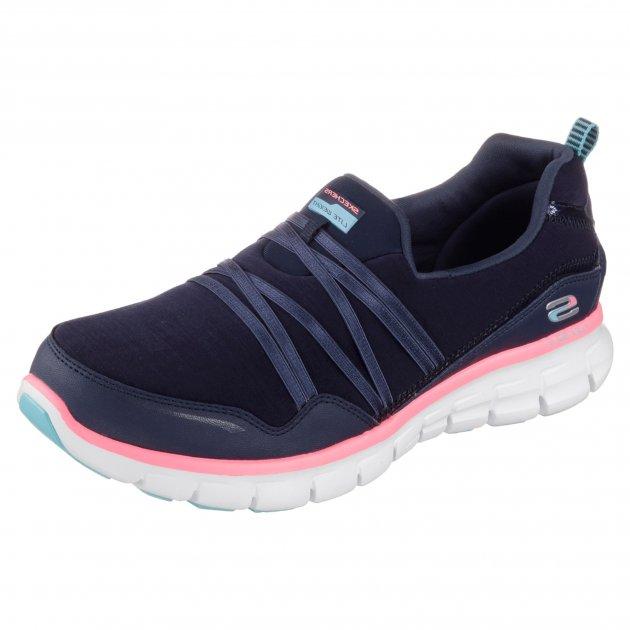 Skechers Synergy Scene Stealer Sk12004 Navy/Pink Shoes