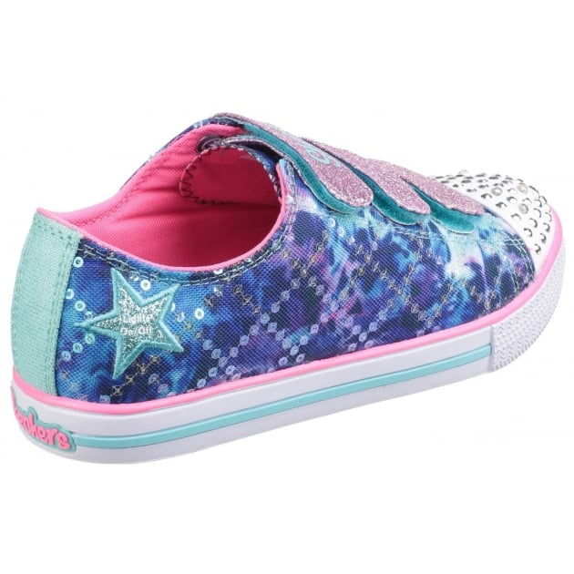 Skechers Twinkle Toes: Chit Chat Dazzle Days Blue Multi Girls