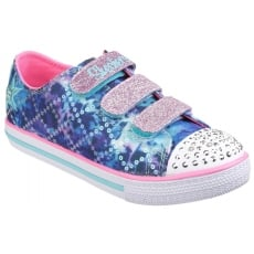Skechers Twinkle Toes: Chit Chat Dazzle Days Blue Multi Girls SK10562L