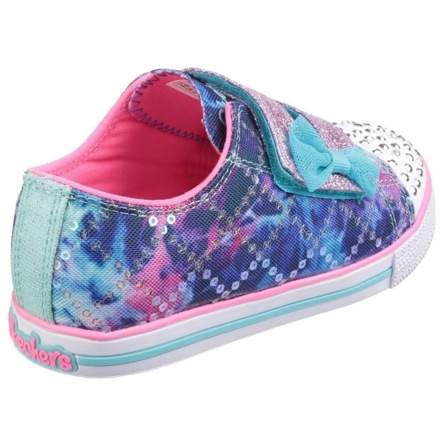 Skechers Twinkle Toes: Chit Chat Lil Chatty Blue Multi Girls