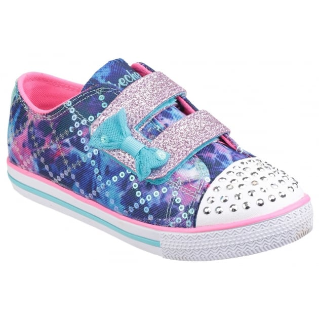 Skechers Twinkle Toes: Chit Chat Lil Chatty Blue Multi Girls SK10569N