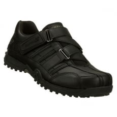 Skechers Velcro School Shoes Black Sk91664