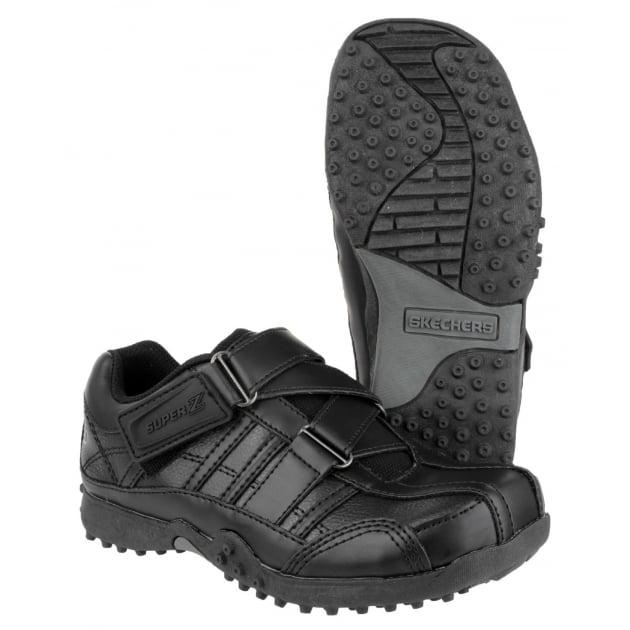 Skechers Velcro School Shoes Black Sk91664