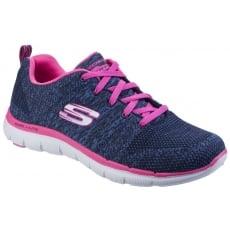 Skeckers Skechers Flex Appeal 2.0 - High Energy Navy/Hot Pink