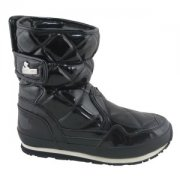 Snowjoggers Sporty Snowjogger Quilted  Black Boots
