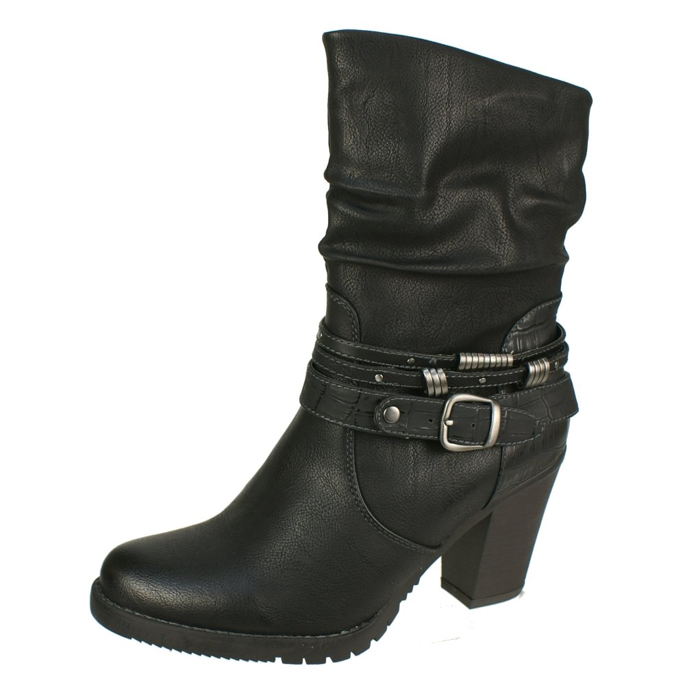 tamaris 25025 women 39 s black boots free delivery at. Black Bedroom Furniture Sets. Home Design Ideas