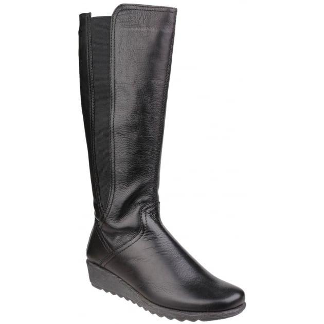 The Flexx Grunge Leather Black Boots